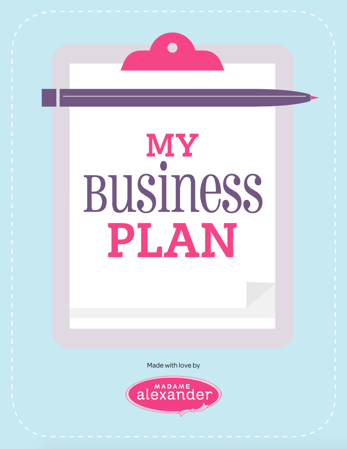 My Business Plan Cover